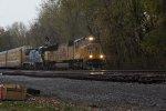 UP 5122 leading a CSX Q249