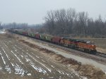 BNSF 7427 eastbound BNSF loaded grain train