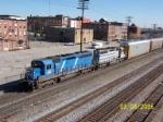 CEFX Bluebird 3134 leads CSX train Q237