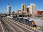CSX 4714 leads northbound K train in downtown Birmingham