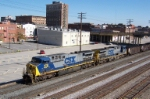 CSX 378 leads southbound coal train