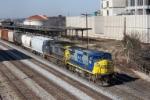 CSX Northbound passes Amtrak Station