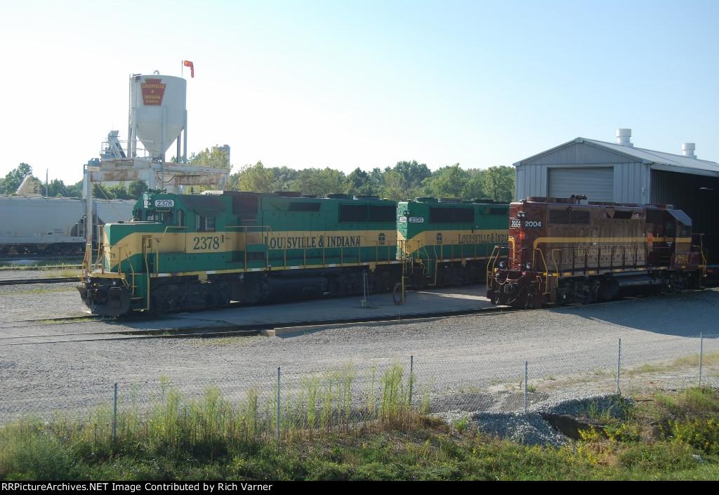 LIRR 2378, 2376 & 2004 at Jeffersonville engine terminal