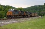 CSX loaded coal train heading downhill