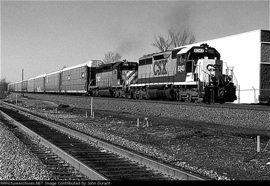 CSX 8343 on Q-254