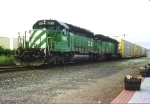 Two Ex BN SD40-2's, Two different new owners