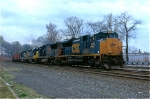 CSX 4846 on a ballast train
