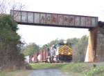 KCS 4015 passes under the CSX overpass