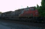 CN SD70M-2 8817 with its marker lights lit as it trails on 261