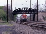 A Metroliner at Paradise on ex-PRR 152-lb jointed rail