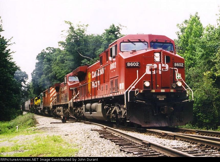 CP 8602 on CP/D&H Train 258