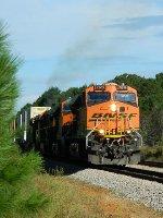 BNSF 7619 (ES44DC) 7093 (ES44C4) 5012 (C44-9W) 6792 (ES44C4)