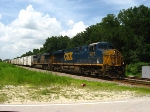 CSXT 5275 leads Q741 south on the Wildwood Subdivision