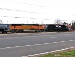 BNSF 244 and NS 1009