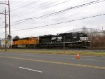 NS 1009 and BNSF 244