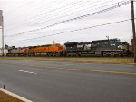 NS 8399; BNSF 7176 and 605