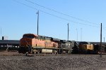 BNSF 7572, NS 8879, and UP 9774