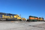 BNSF 3191, UP 9315, BNSF 1954, and BNSF 1618