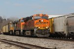 BNSF 6335 Heads up a loaded Rush tower load.