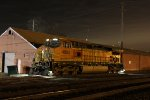 BNSF 4695 Sit's silent as the night goes on.