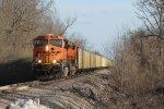 BNSF 6146 Rips on a empty coal train.
