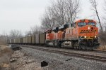 BNSF 5951 Heads up a empty SLW coal train.