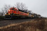 BNSF 1350 Leads NS48N talk about rare...