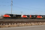 A Mix of Cn power sitting in East Saint Louis.