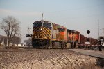 CREX 1402 Leads a empty ore train into the evening with light,