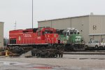 BNSF 3133 Sits in the TRRA yard at Madison IL.