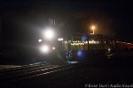 NS OSC 956 rolls through Orange at night.