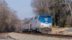 Amtrak 51 southbound through Orange, VA Dec 21 2014