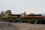 BNSF 2854 & BNSF 1600 Working The Denver BNSF Yard