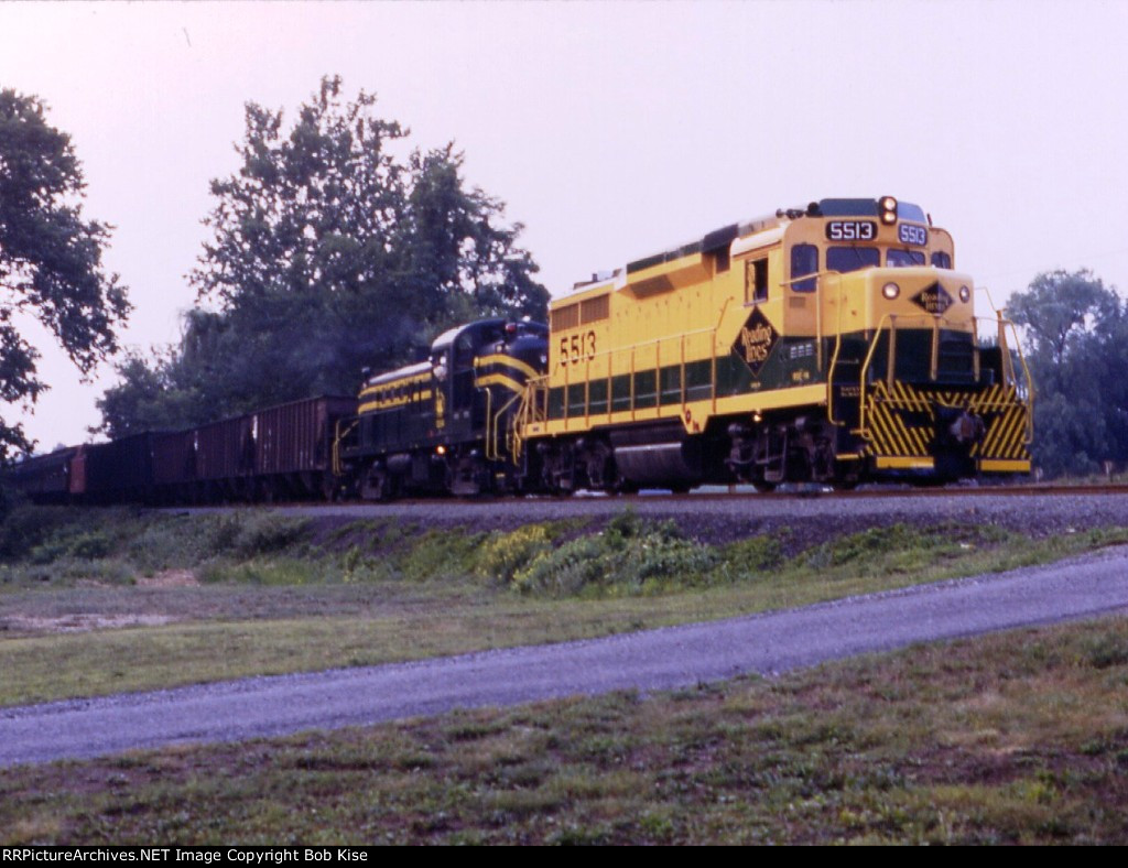 A RDG GP30 & CNJ RS3 head a mixed freight southbound