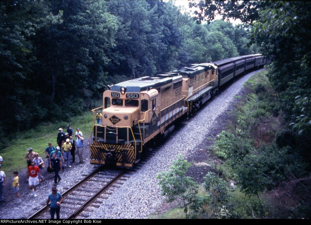 Runby preparation, as seen from the old PRR grade above