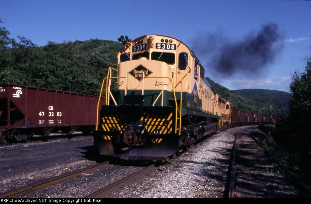 The Alco Century smokes it up at South Tamaqua Yard