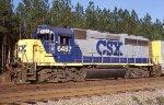 CSX 6487 power for the rail train