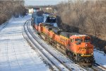 Eastbound intermodal comes off the Midway Sub