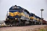 Paused grain train