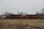 BNSF 2341 Sits tied down on the local.