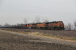 BNSF 1087 Leads a Sb loaded oil can..