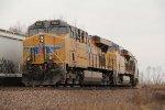 2 Ge's shove on a SB grain train.