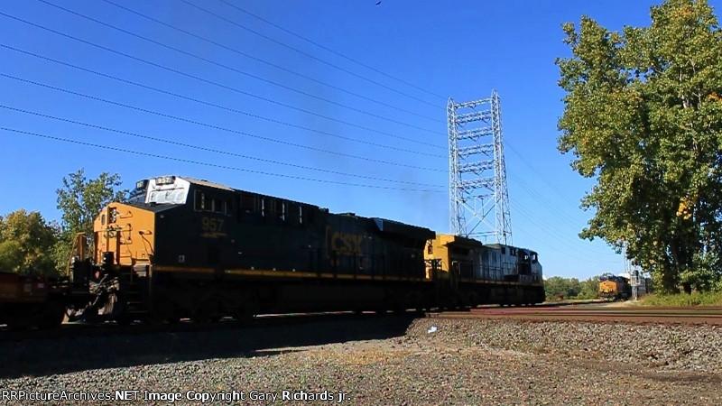 CSX 957 & 398