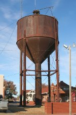 Water tower by depot