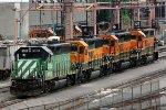 BNSF Locomotives in Balmer Yard