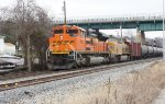 BNSF 9019 leading CSX K041-19 with UP 8012