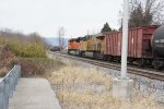 BNSF 9019 on K041 about passing resting CSX coal train
