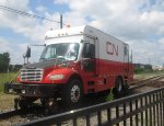 CN track inspection vehicle.