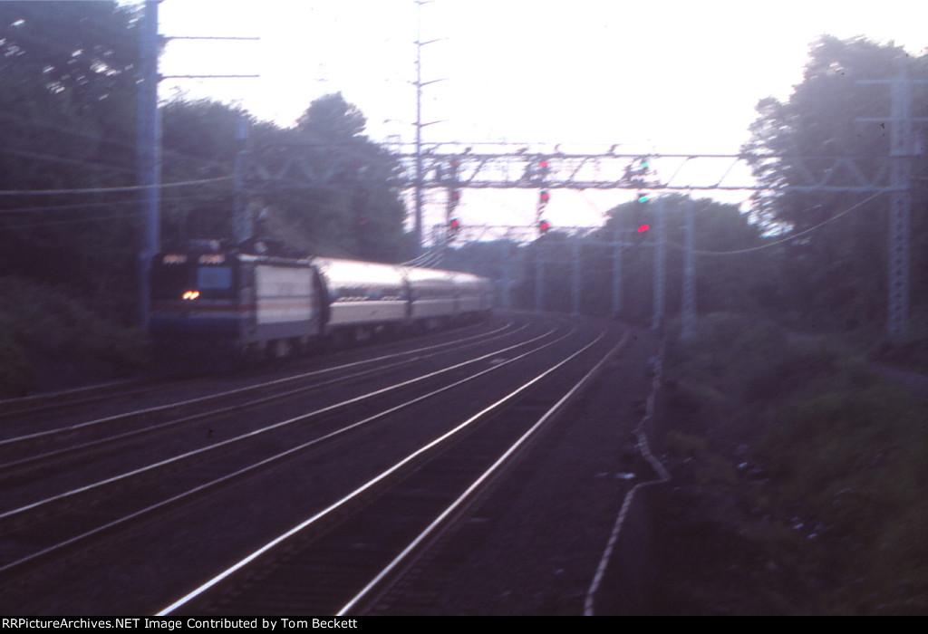 Boston bound at twilight