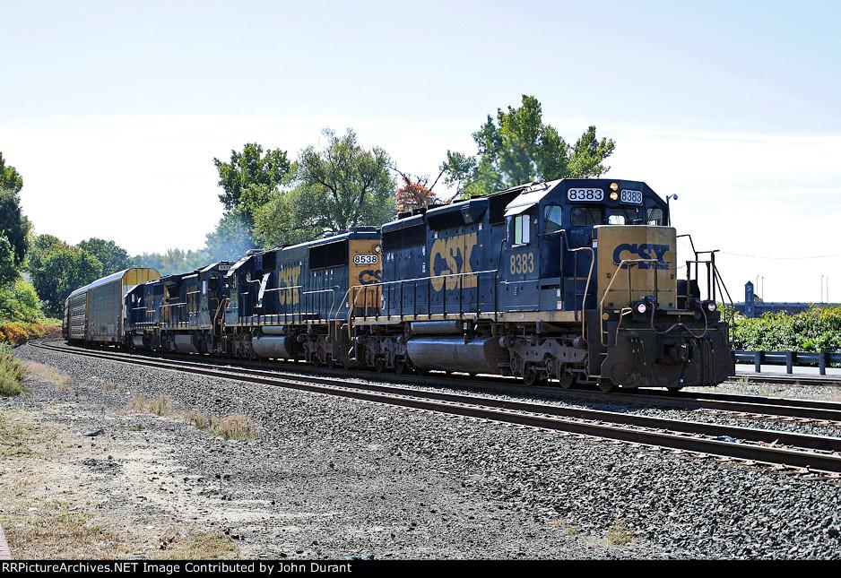 CSX 8383 on Q-434